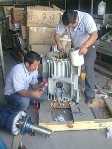 reparacion de bomba y motor